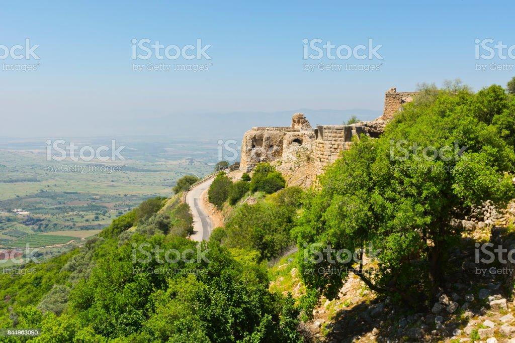 Nimrod Fortress in Israel stock photo