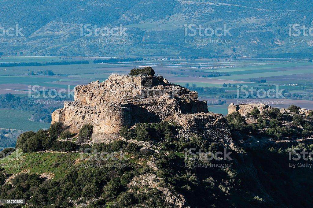 Nimrod Fortress, Israel stock photo