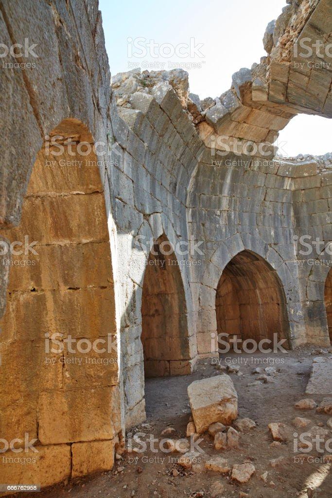 Nimrod tower ruins at north Israel foto stock royalty-free