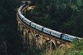 Scenic view of Nine Arch Bridge in Sri Lanka