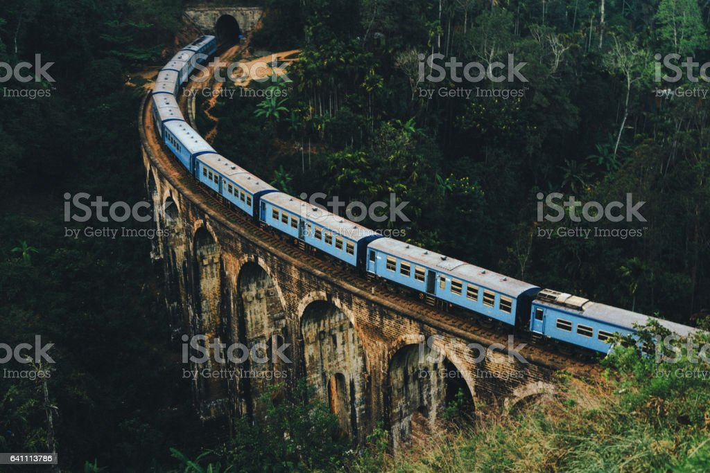 Nine Arch Bridge in Sri Lanka stock photo