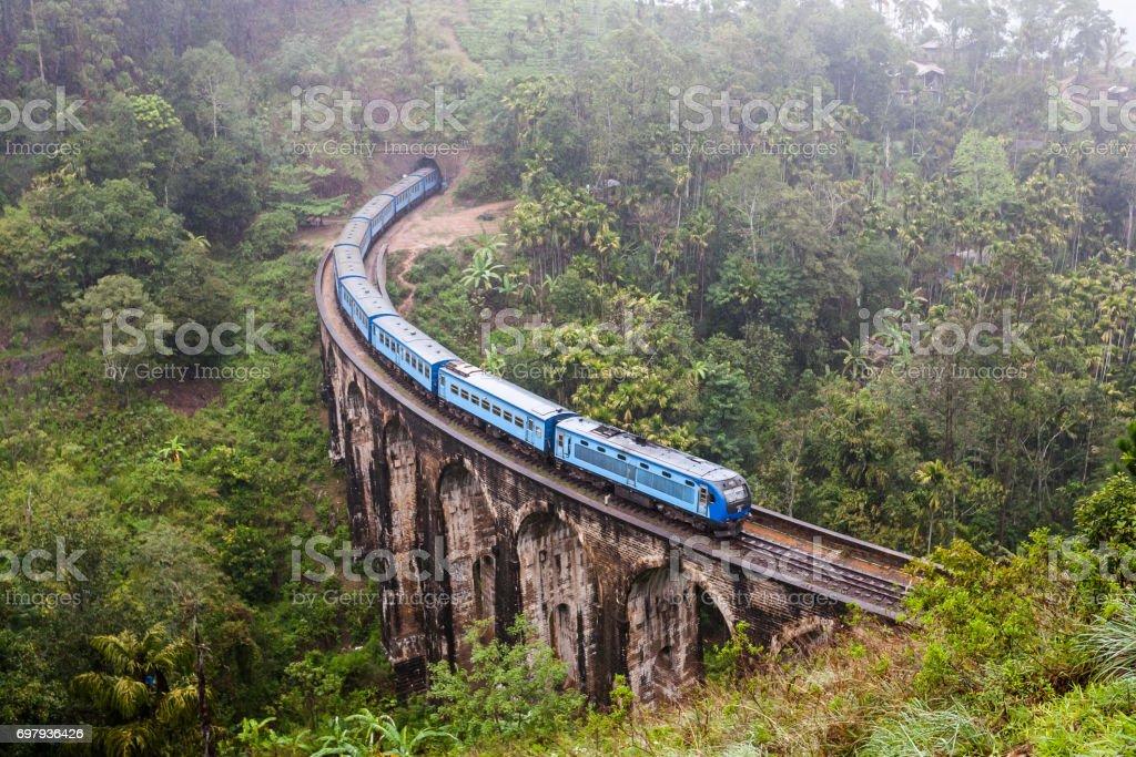 Nine Arches Bridge Demodara in Ella, Sri Lanka. stock photo