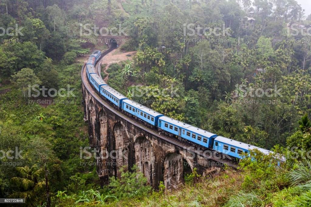 Nine Arches Bridge Demodara in Ella, Sri Lanka. stock photo