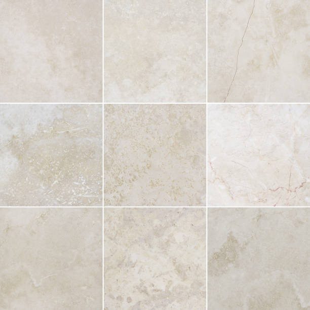 Nine different high quality marble textures. stock photo
