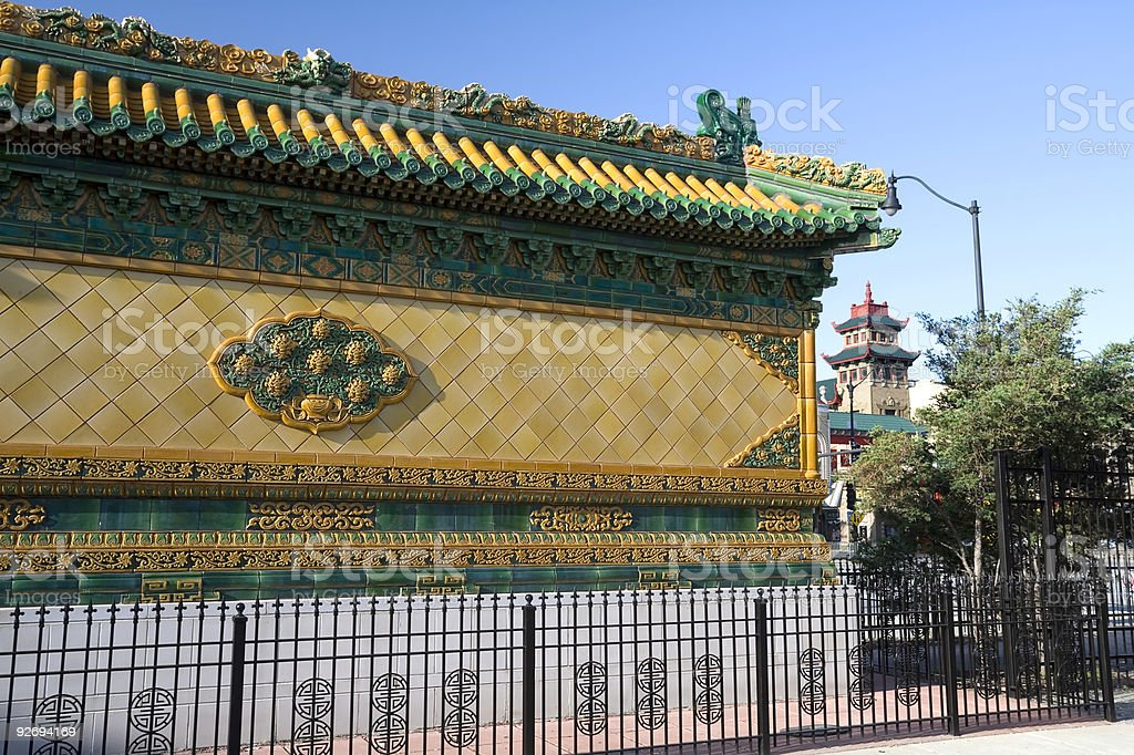 Nine Dragon Wall in Chicago royalty-free stock photo