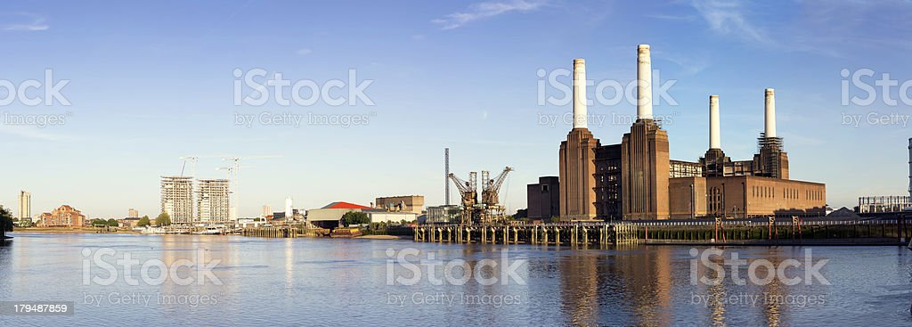 Nine Elms and Battersea Power Station royalty-free stock photo