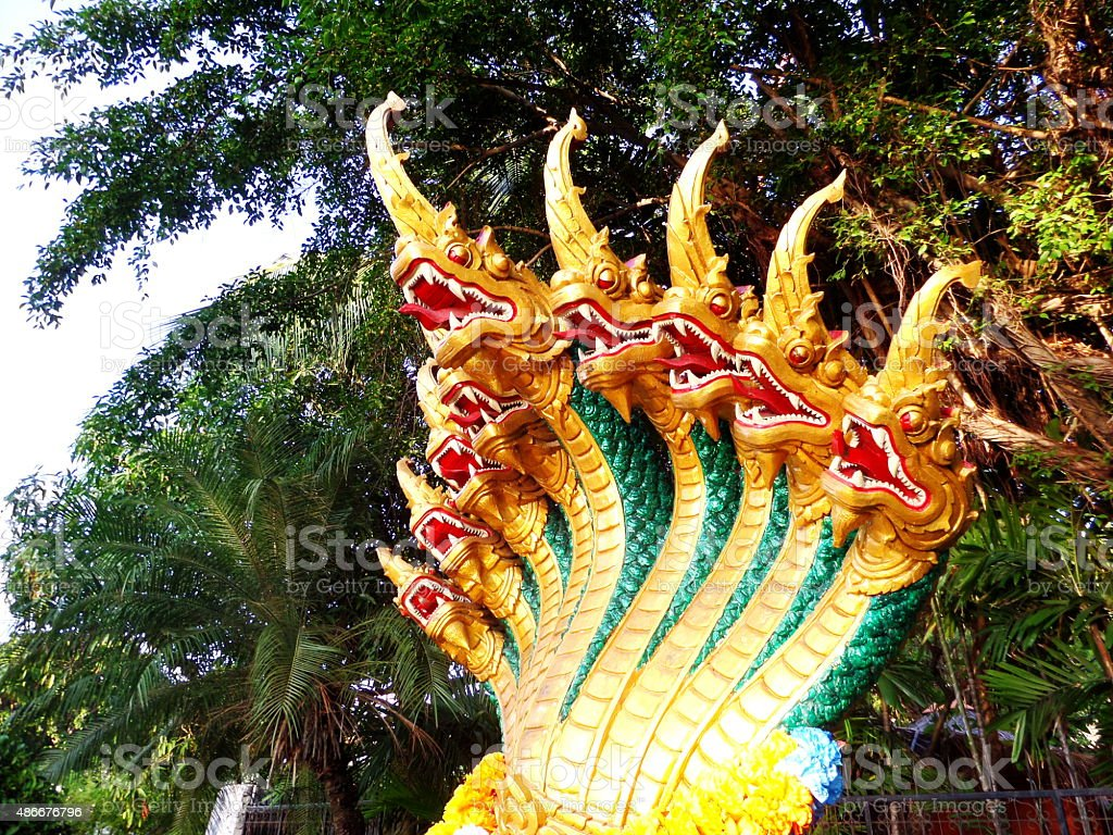 Nine Heads Naga stock photo