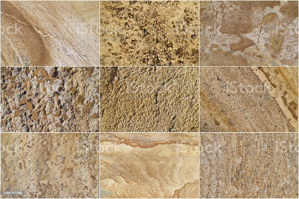 Nine Natural Limestone Background stock photo