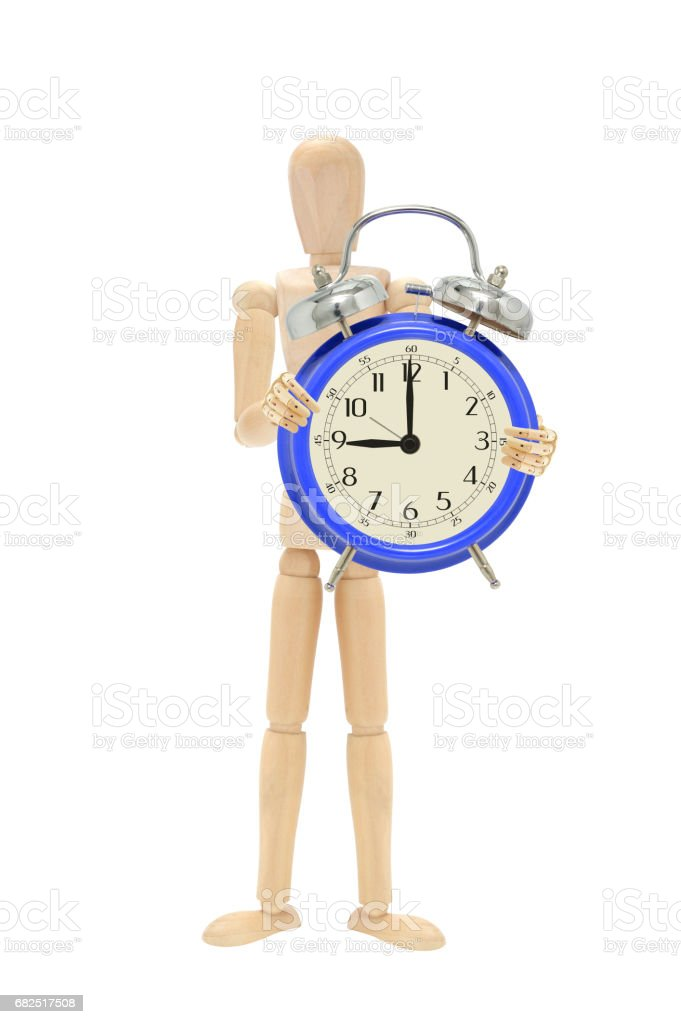 Nine O'Clock Alarm Clock royalty-free stock photo