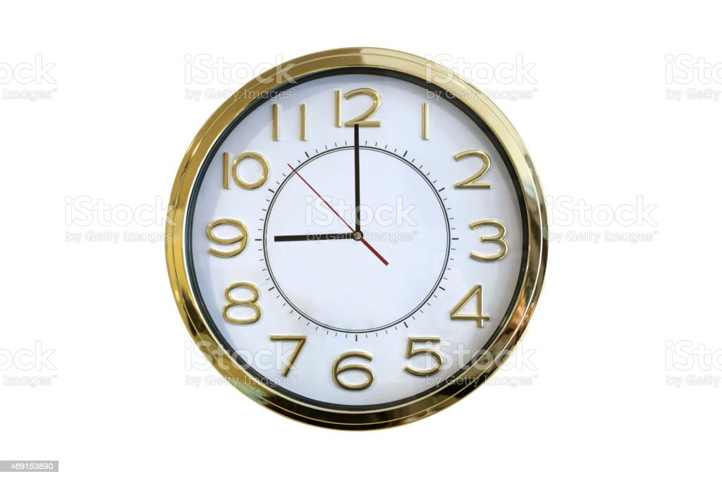 Nine o'clock - Stock Image stock photo