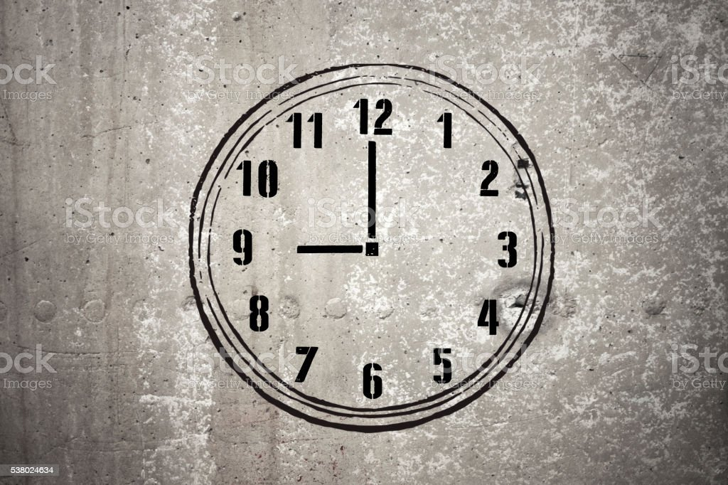 Nine o'clock - Stock Image stock photo
