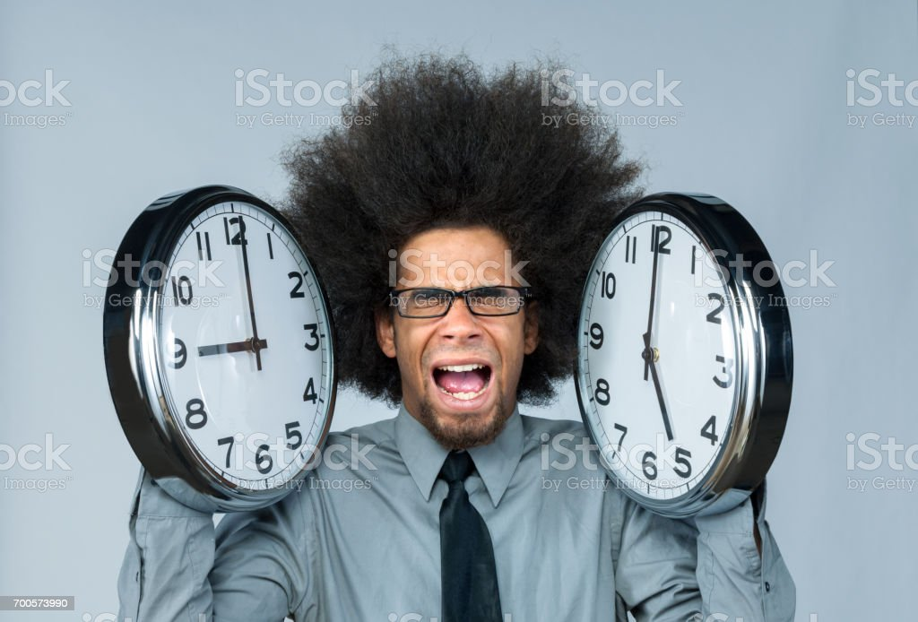 nine to five, office stress stock photo