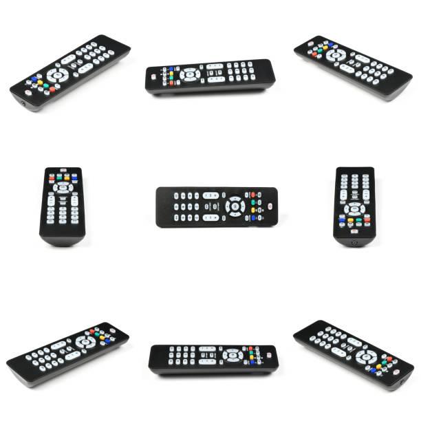nine tv remote control - telecomando background foto e immagini stock