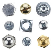 istock Nine typed of screws and bolts 183343129