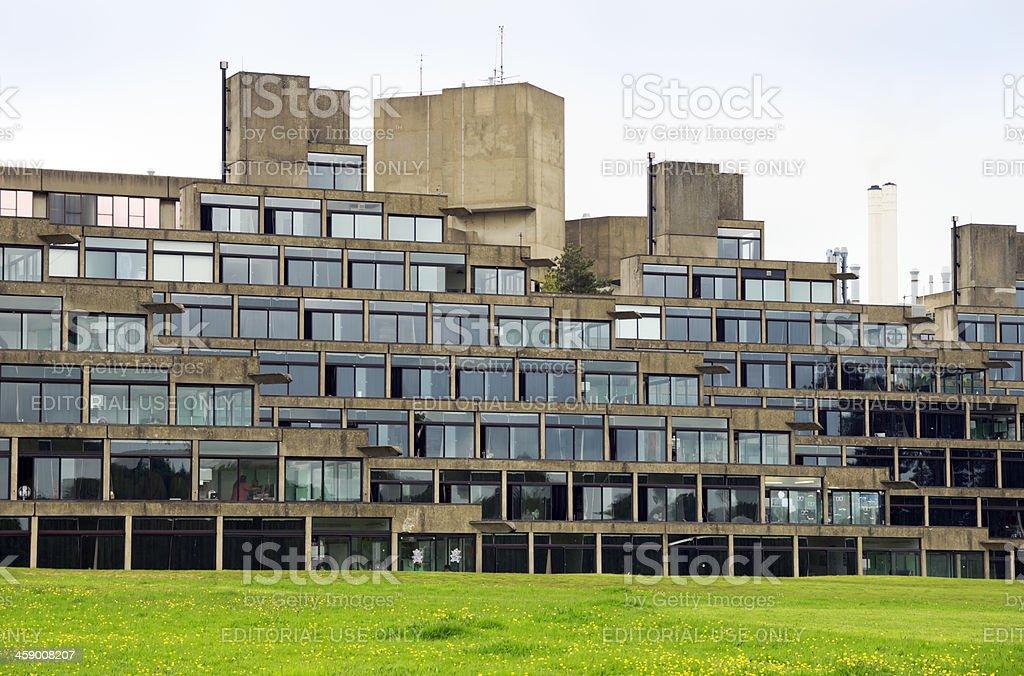 Nineteen sixties architecture at UEA stock photo