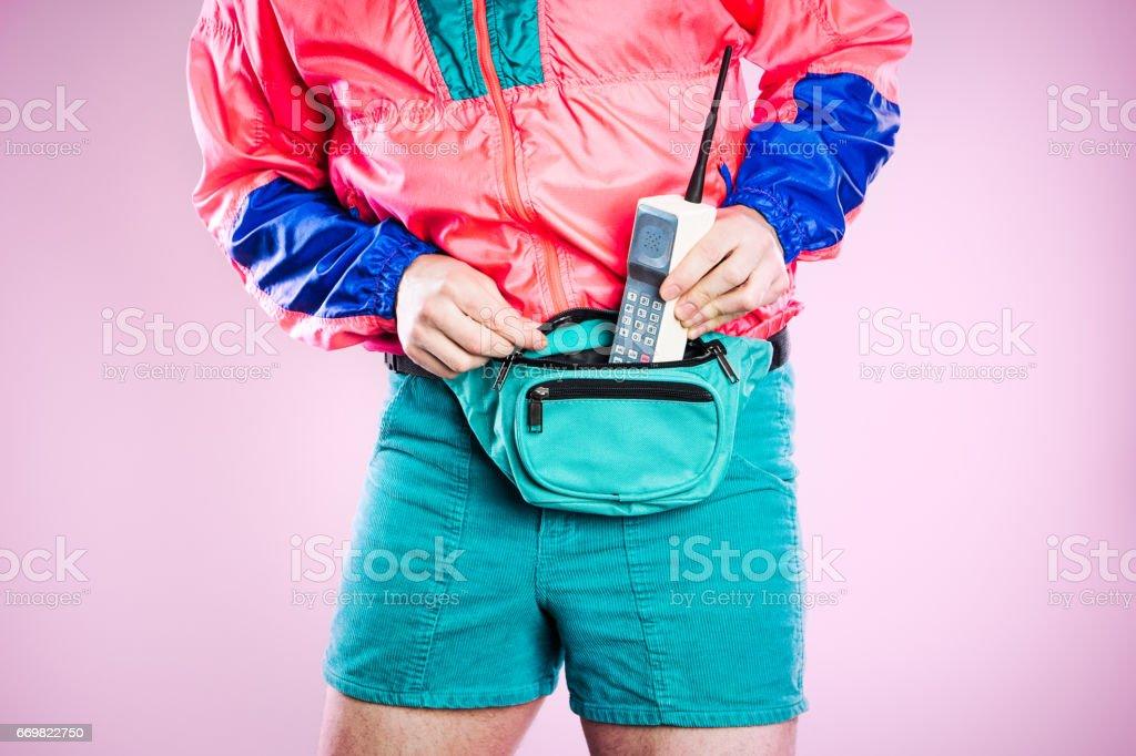Nineties Tech and Fashion Style Man - foto stock
