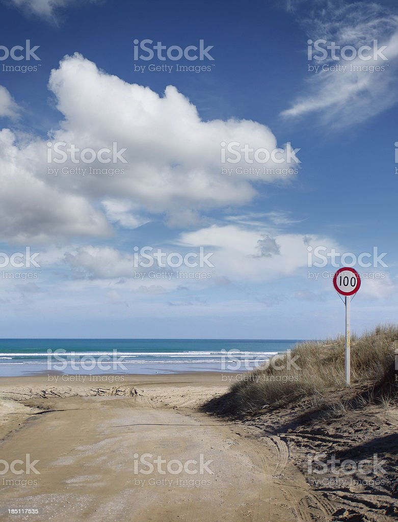 Ninety Mile Beach stock photo