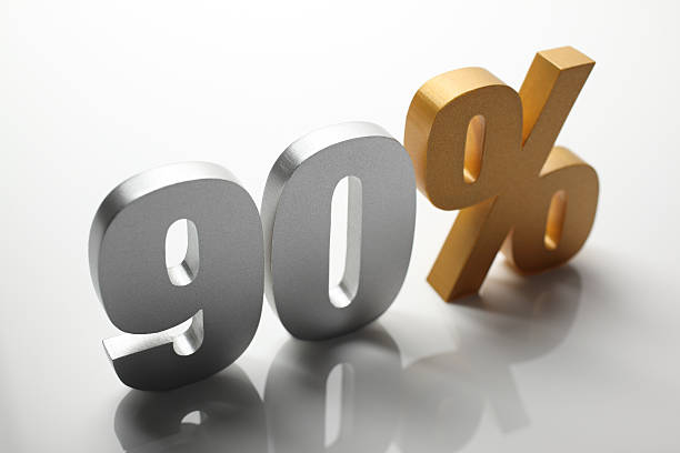 ninety percent - number 90 stock photos and pictures