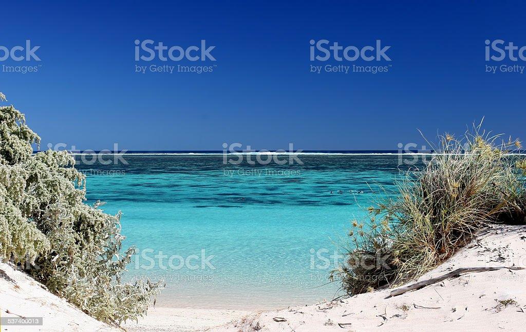 Ningaloo Beach and Reef stock photo