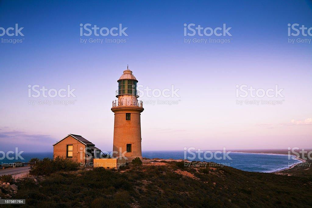 Ningaloo Lighthouse Twilight Scene stock photo