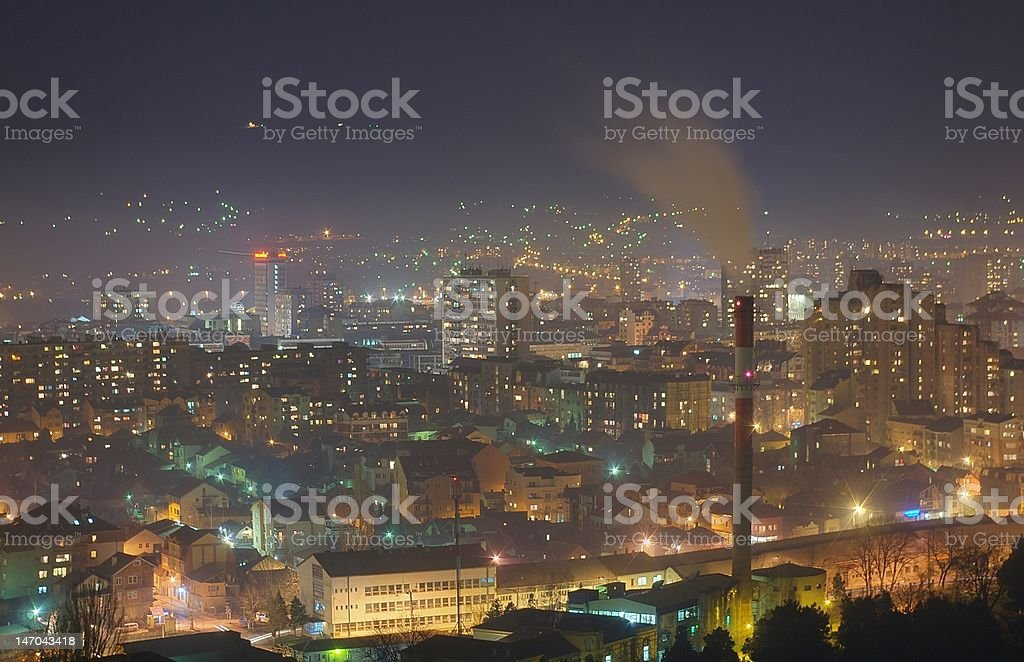 Niš/Nish/Nis at night stock photo