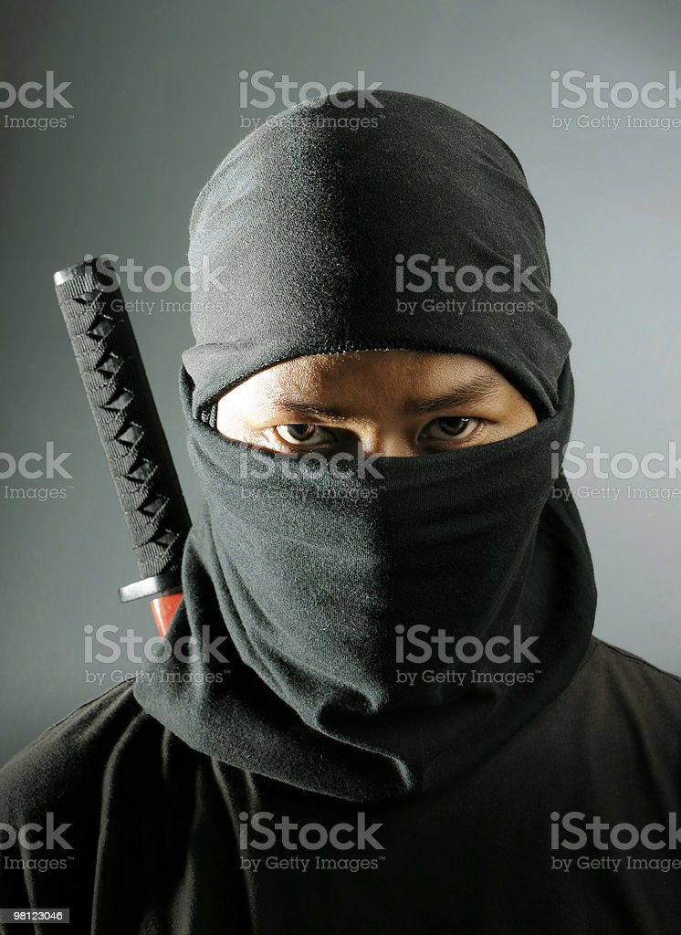 Ninja assassin stock photo