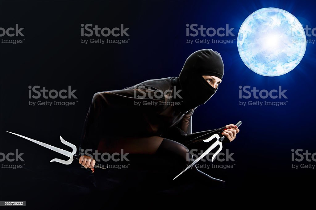 ninja girl stock photo