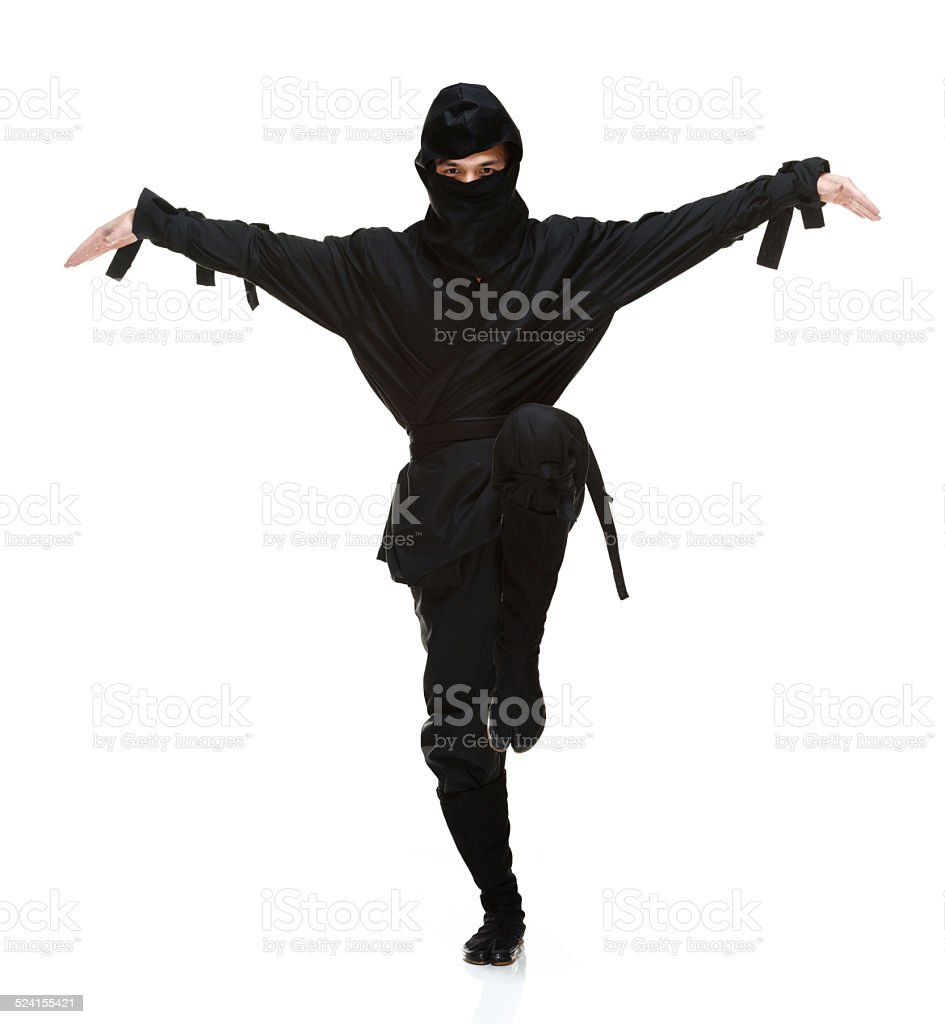 Ninja in action stock photo