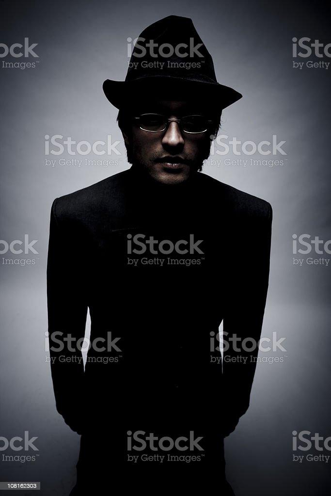 Ninja in the Dark royalty-free stock photo