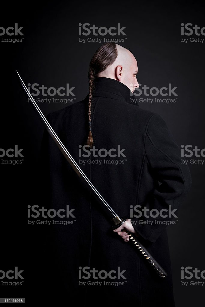 Ninja monk royalty-free stock photo