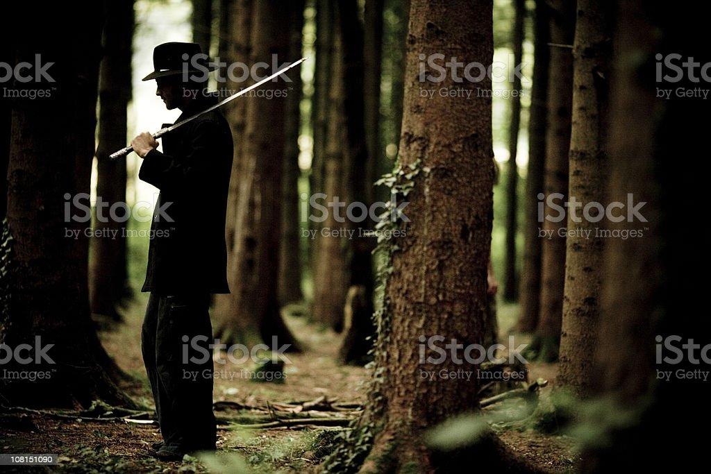 Ninja Woodsman royalty-free stock photo