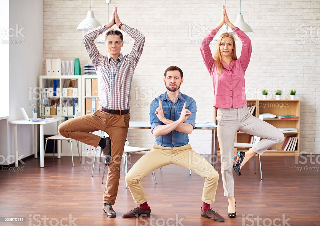 Ninjas in office stock photo