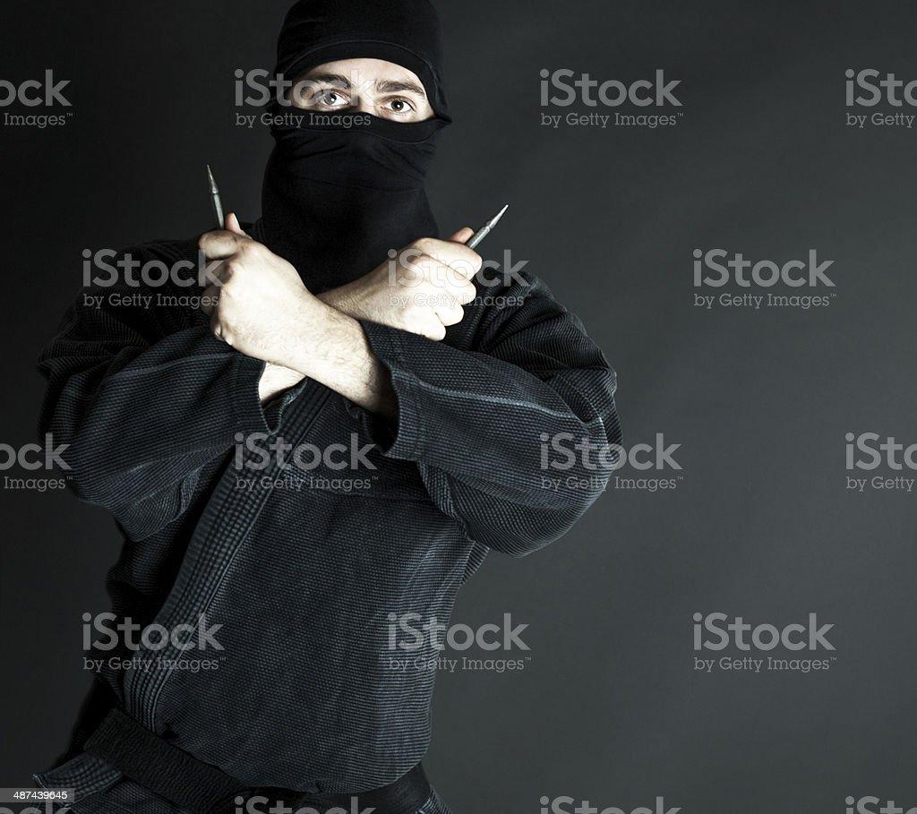 Ninja with trowing blade