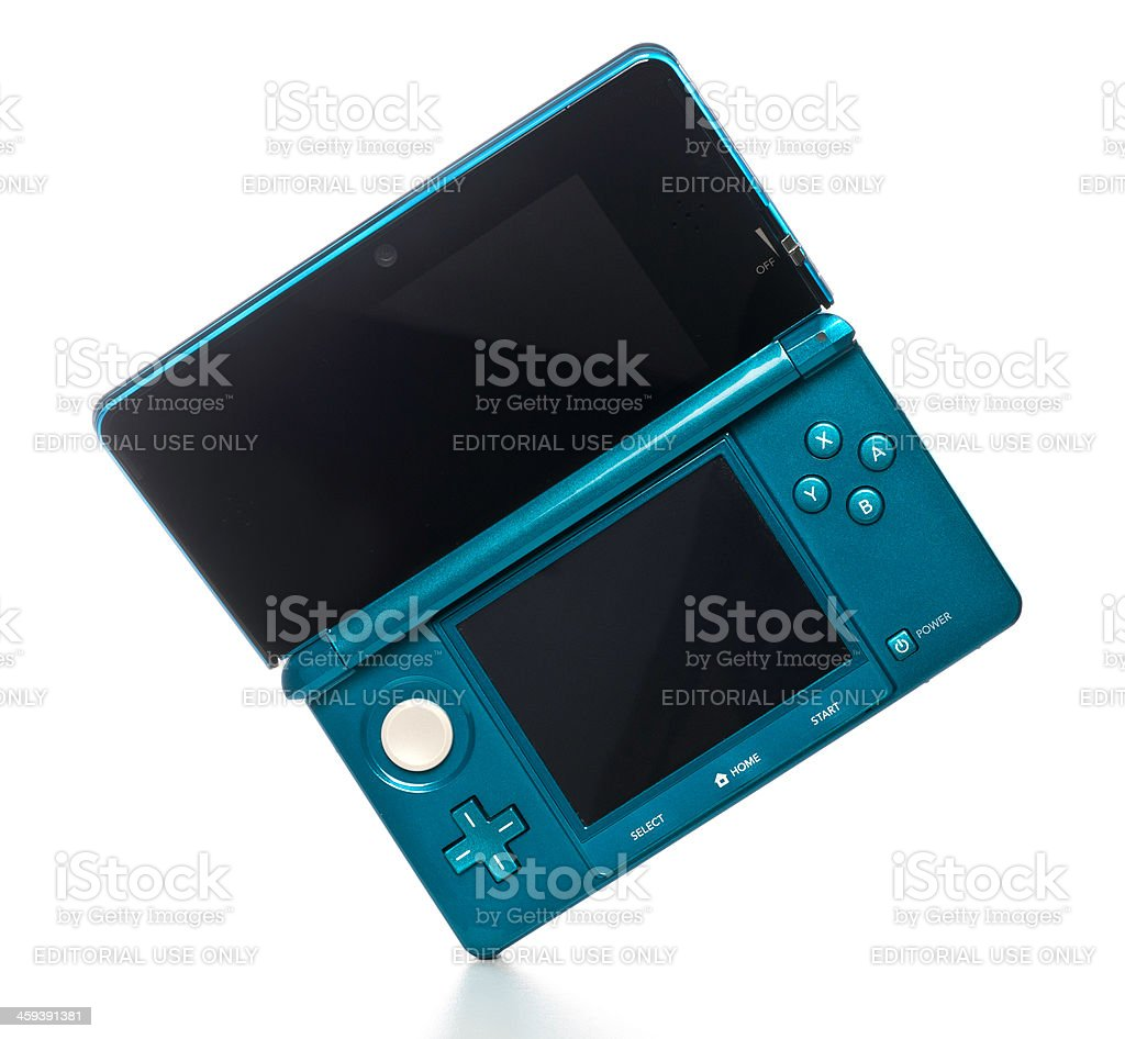 Nintendo 3DS game console stock photo