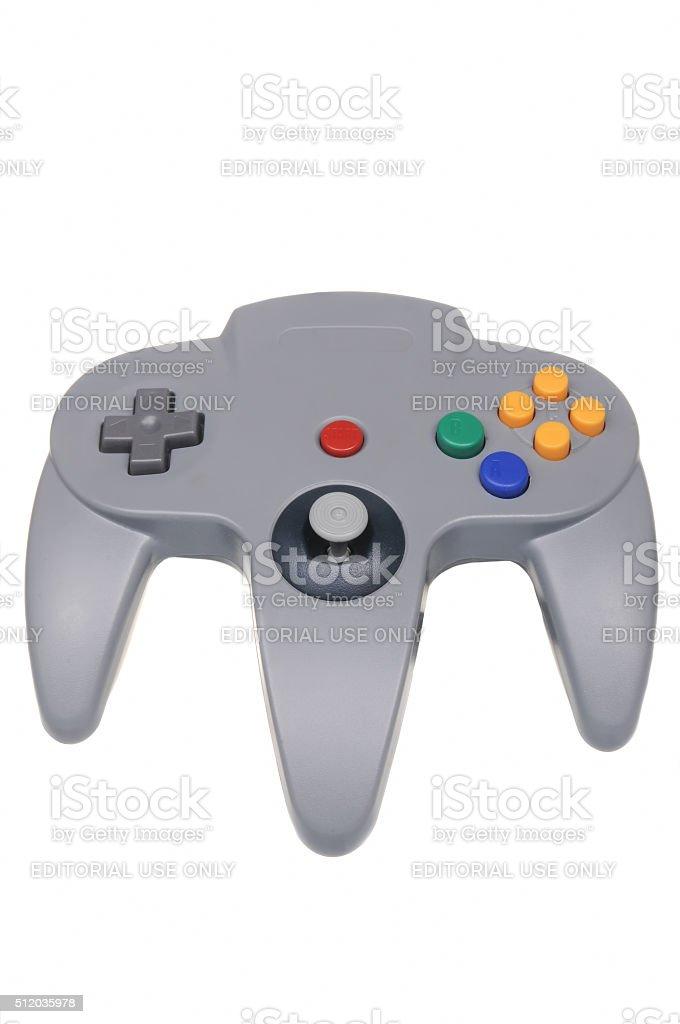 Nintendo 64 Controller stock photo