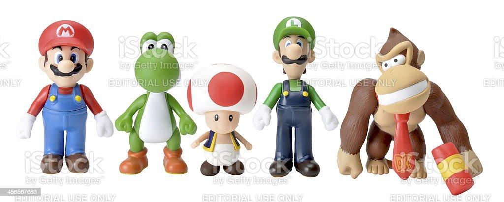 nintendo characters stock photo