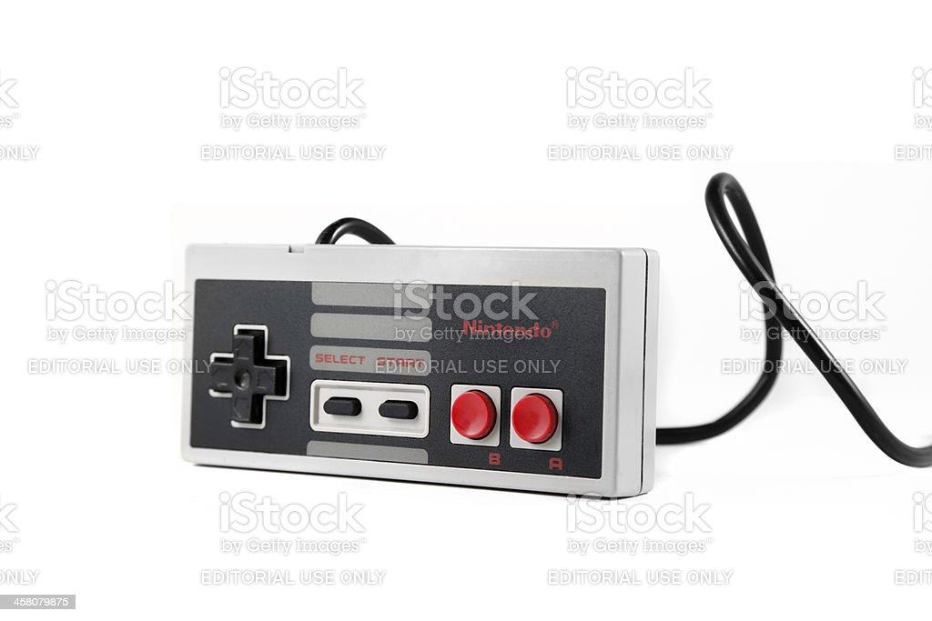 Nintendo Controller isolated stock photo