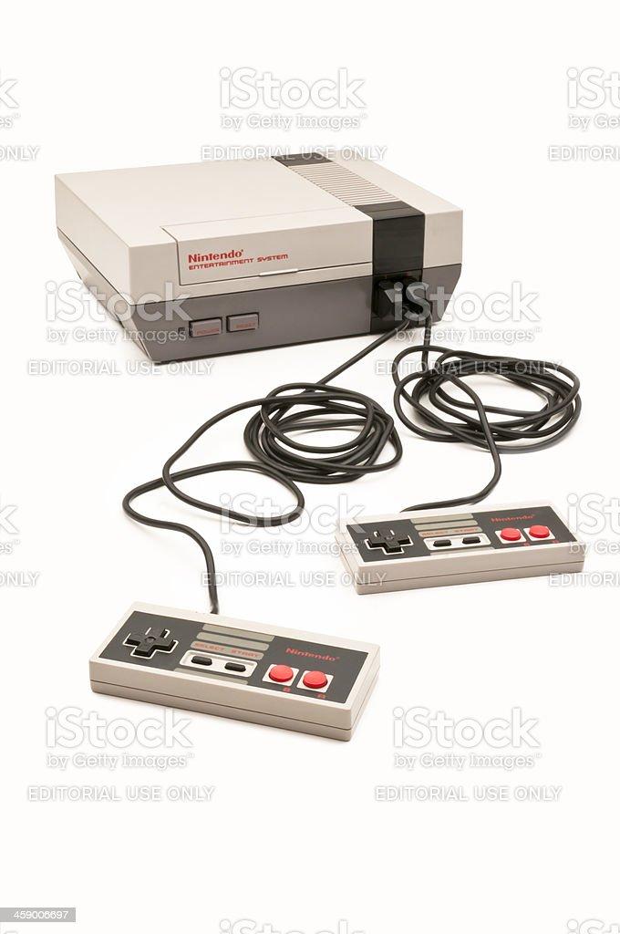 Nintendo Entertainment System stock photo