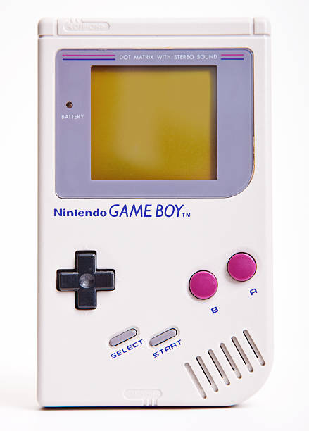 Nintendo Game Boy DAsseldorf, Germany - September 11, 2013: First Nintendo Game Boy classic Edition. This handheld video game, produced by Nintendo, hit the market during the late 1980s and rapidly became a global bestseller. nintendo stock pictures, royalty-free photos & images