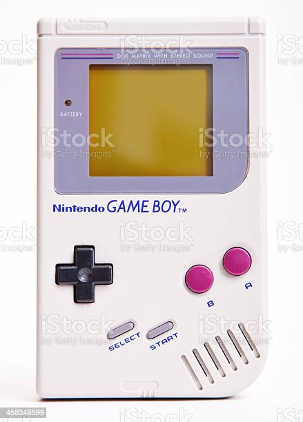 DAsseldorf, Germany - September 11, 2013: First Nintendo Game Boy classic Edition. This handheld video game, produced by Nintendo, hit the market during the late 1980s and rapidly became a global bestseller.