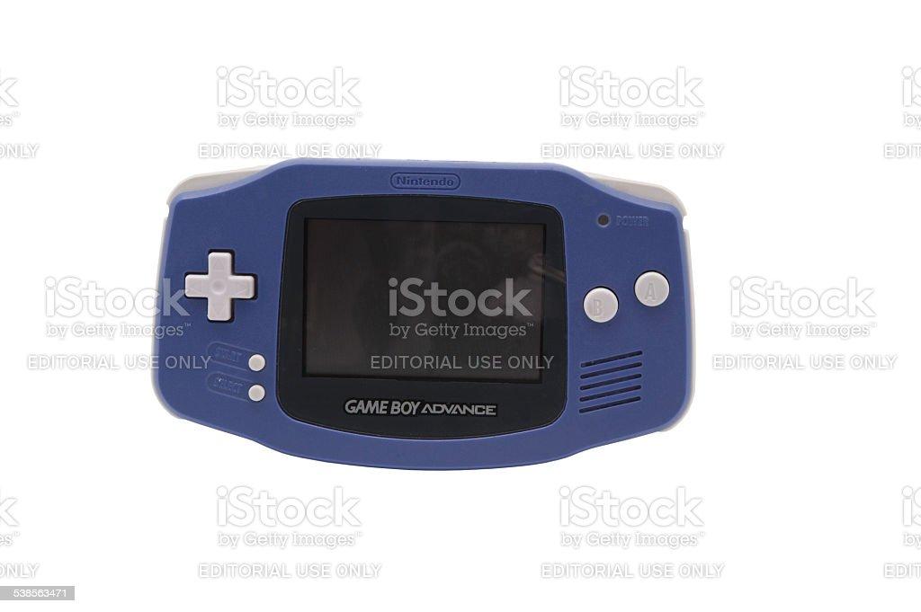 Nintendo Gameboy Advance stock photo