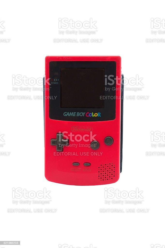 Nintendo Gameboy Colour stock photo