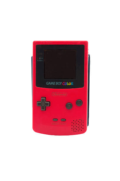 Nintendo Gameboy Colour Adelaide, Australia - October 27, 2014: A studio shot of a Nintendo Game Boy Colour. A popular handheld video game device which has sold over 100 million units worldwide. nintendo stock pictures, royalty-free photos & images