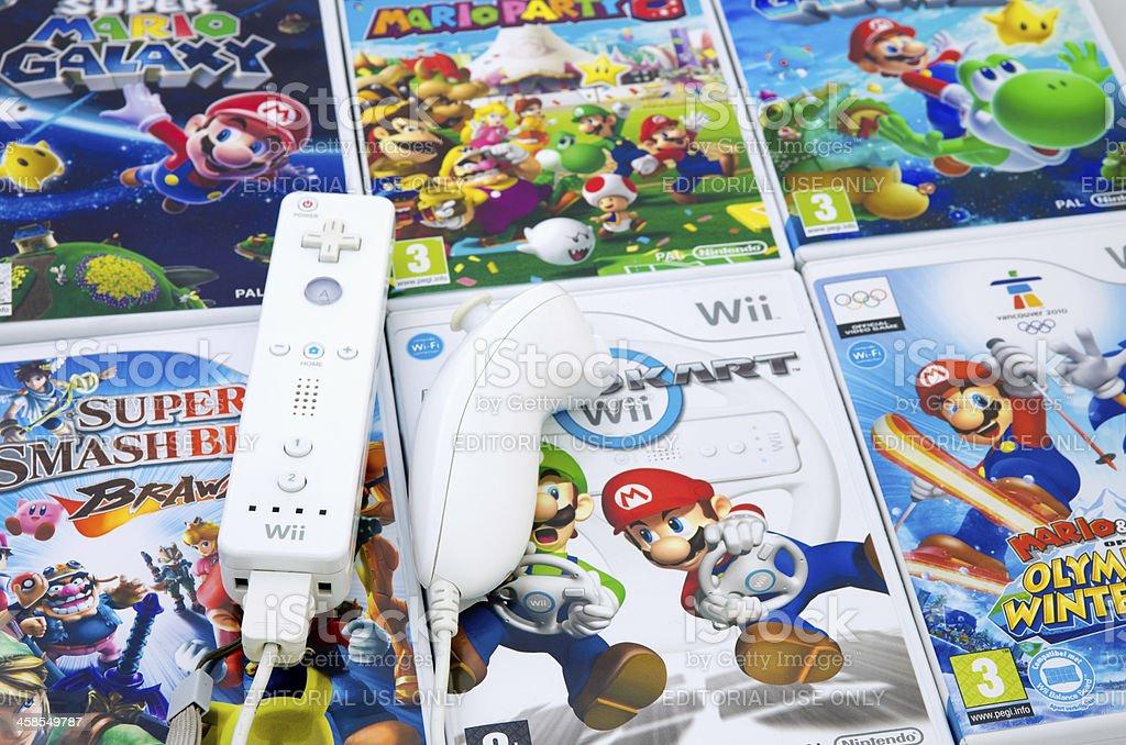 Nintendo Mario Wii stock photo