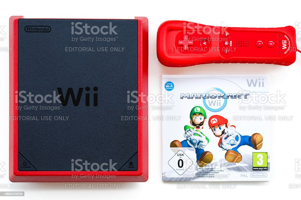 Nintendo's Wii Mini video game console royalty-free stock photo