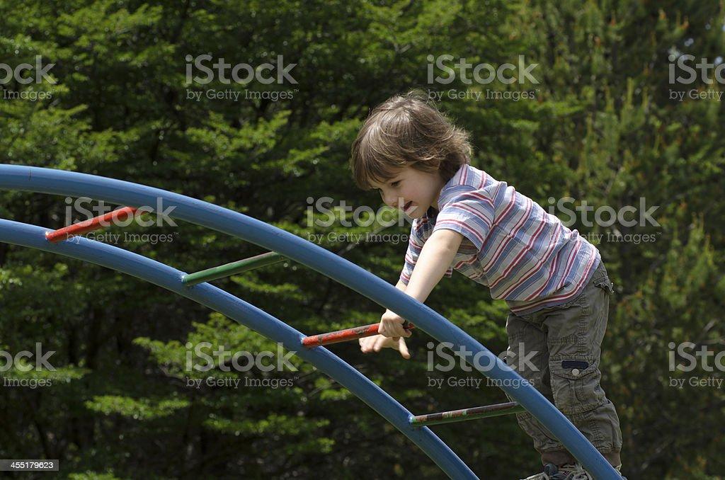 Niño en Pasa Manos stock photo