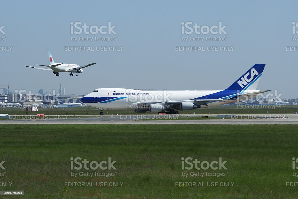 Nippon Cargo Airlines, Boeing 747-400 royalty-free stock photo