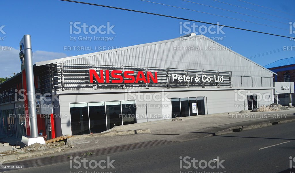 Nissan dealership of Peter and Company St Lucia royalty-free stock photo