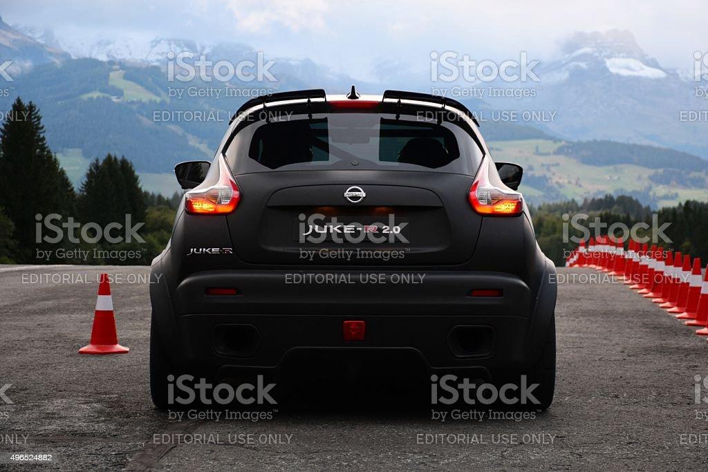 Nissan Juke-R on the start line stock photo