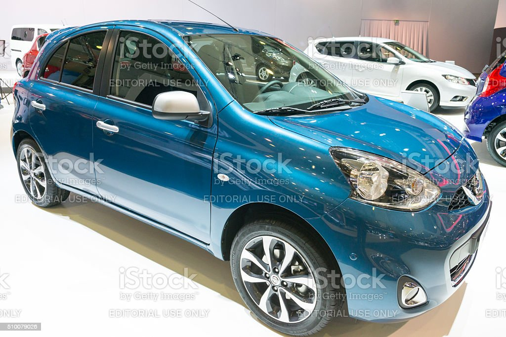 Nissan Micra compact hatchback car stock photo